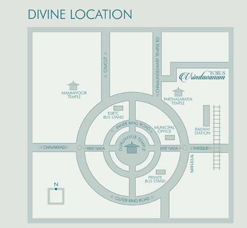 forus vrindavanam location/direction